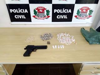 POLÍCIA CIVIL  PRENDE PROCURADO COM DROGAS EM REGISTRO-SP