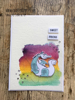 Create a beautiful rainbow dragon card using the Magical Day stamp set, ink and Aqua Painters by Stampin' Up!