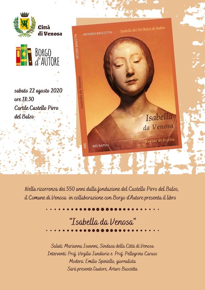 Venosa: Al Castello Pirro del Balzo, la presentazione del libro su Isabella da Venosa