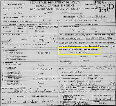 Dorothy Seastrom Death Certificate