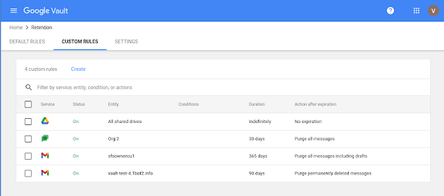 New interface for Google Vault 3