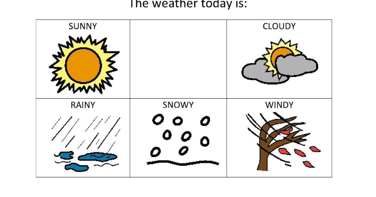 Teach Early Autism: Weather And Seasons Printable