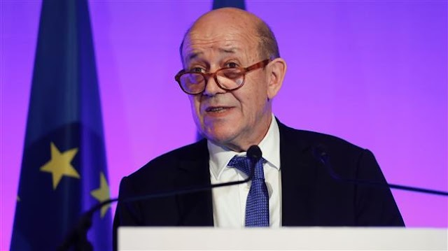 France's Foreign Minister Jean-Yves Le Drian  urges European Union to adopt new Iran sanctions to appease Trump