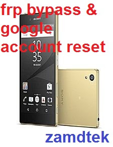 Sony Xperia Z5 E6633 Dual Sim Gold frp bypass and google account reset