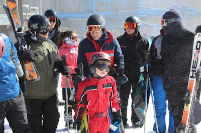 Bringing Up Bates skiing