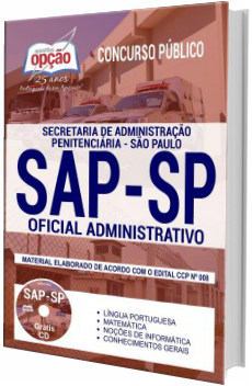 Apostila SAP-SAP 2018 Oficial de Administrativo