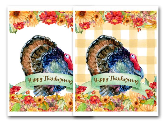Watercolor Thanksgiving Printables