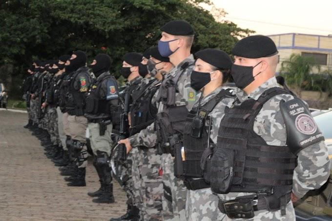 Brigada Militar de Cachoeirinha realiza operação com apoio da Força Tática e da Rocam