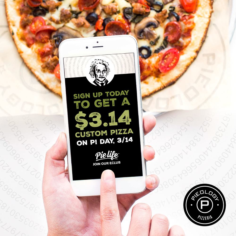 Mar. 14 | Get A Pizza For Only $3.14 On Pi Day @ Pieology!