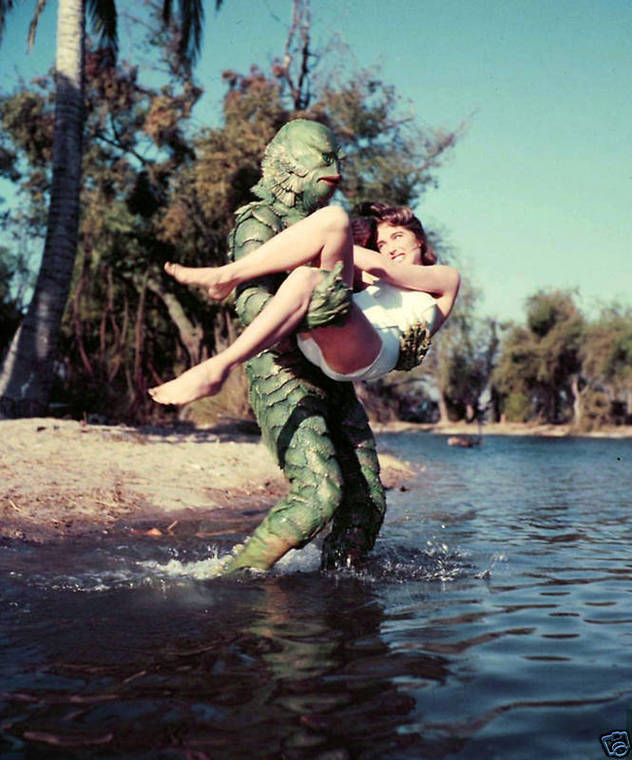 """Amazing Behind the Scenes Photos of """"Creature From the ..."""
