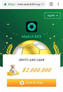 Match365 app refer and earn