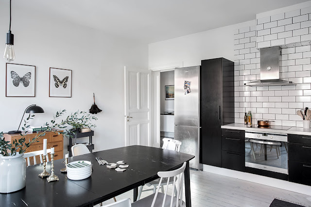 biała podłoga kuchnia