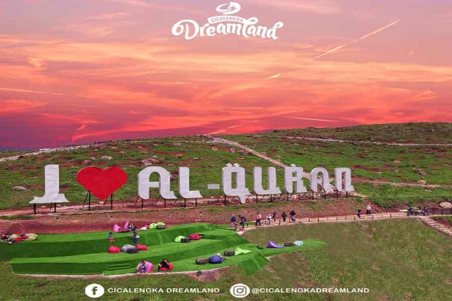 destinasi wisata alam Islami di cicalengka dreamland