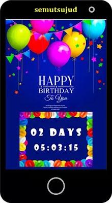 Aplikasi hitung waktu mundur hari ulang tahun-4