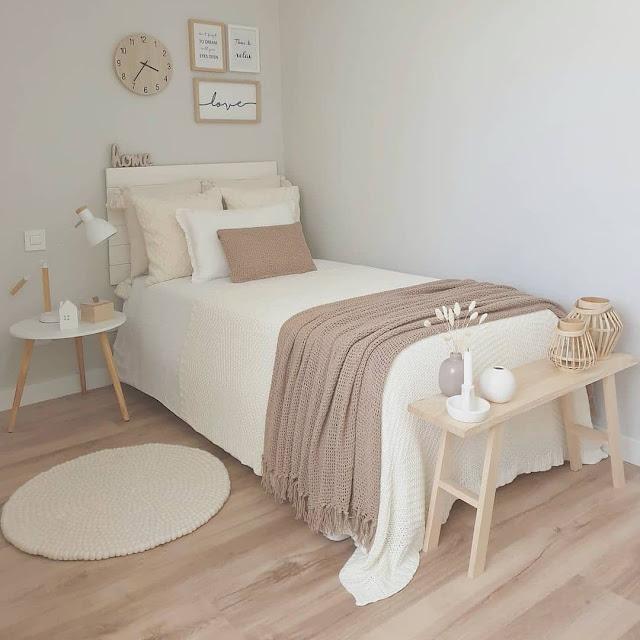 Desain Kamar Tidur Minimalis Sederhana Putih Cerah