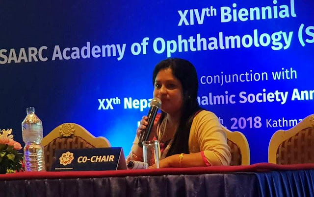 Dr Salma KC Rai pediatric ophthalmologist of Nepal