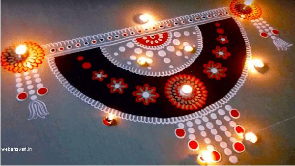 Rangoli Designs with colors
