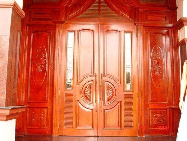 cửa gỗ căm xe- mẫu 3