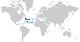 Gambar Peta letak Puerto Rico