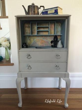 Lilyfield Life vintage desk secretaire hand painted