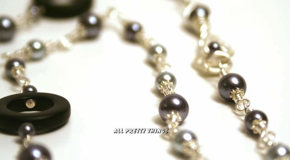 Round and Round ~ The Creative Continuum of Seven Artists : beaded focal by Christine Altmiller, wire wrapped chain, pearls, silver, ooak necklace :: All Pretty Things