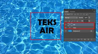 tutorial membuat tulisan di bawah air
