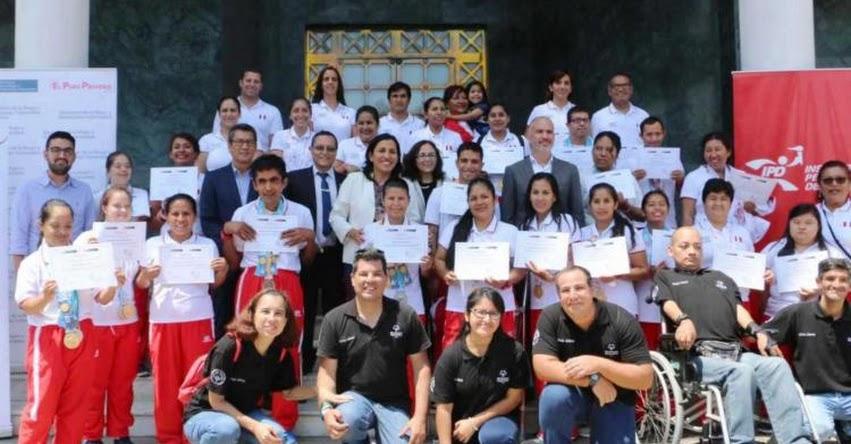 Deportistas peruanos de Olimpiadas Especiales reciben reconocimiento del MINEDU y MIMP