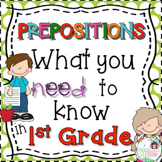 1st Grade Preposition Activities