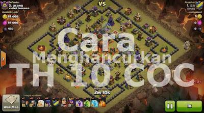 Cara Paten 3 Bintang Town Hall 10 Base Kotak Besar