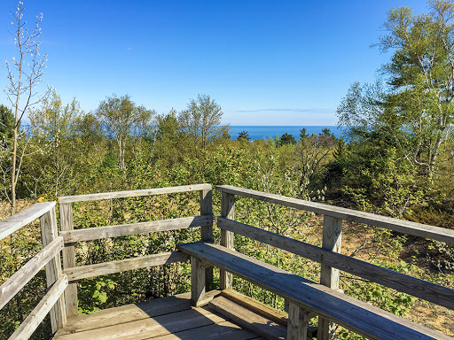 Observation Deck at Old Baldy on the Red Trail at Whitefish Dunes State Park in Door County