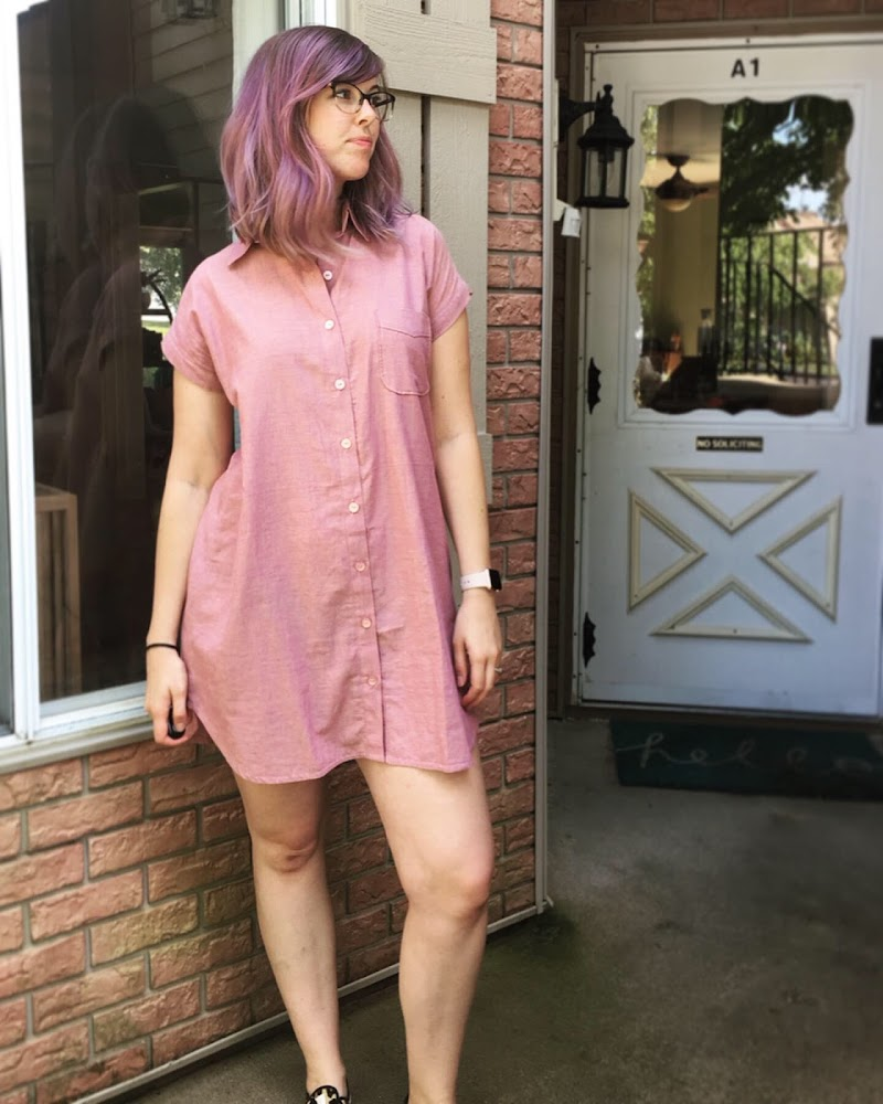 Kalle Shirtdress in Pink Chambray