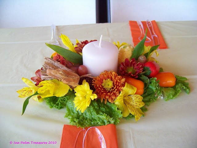 Fresh look Thanksgiving centerpiece