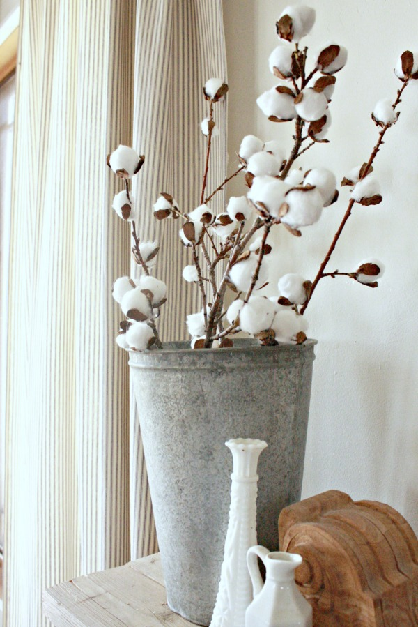 DIY cotton stems, cotton stems, farmhouse
