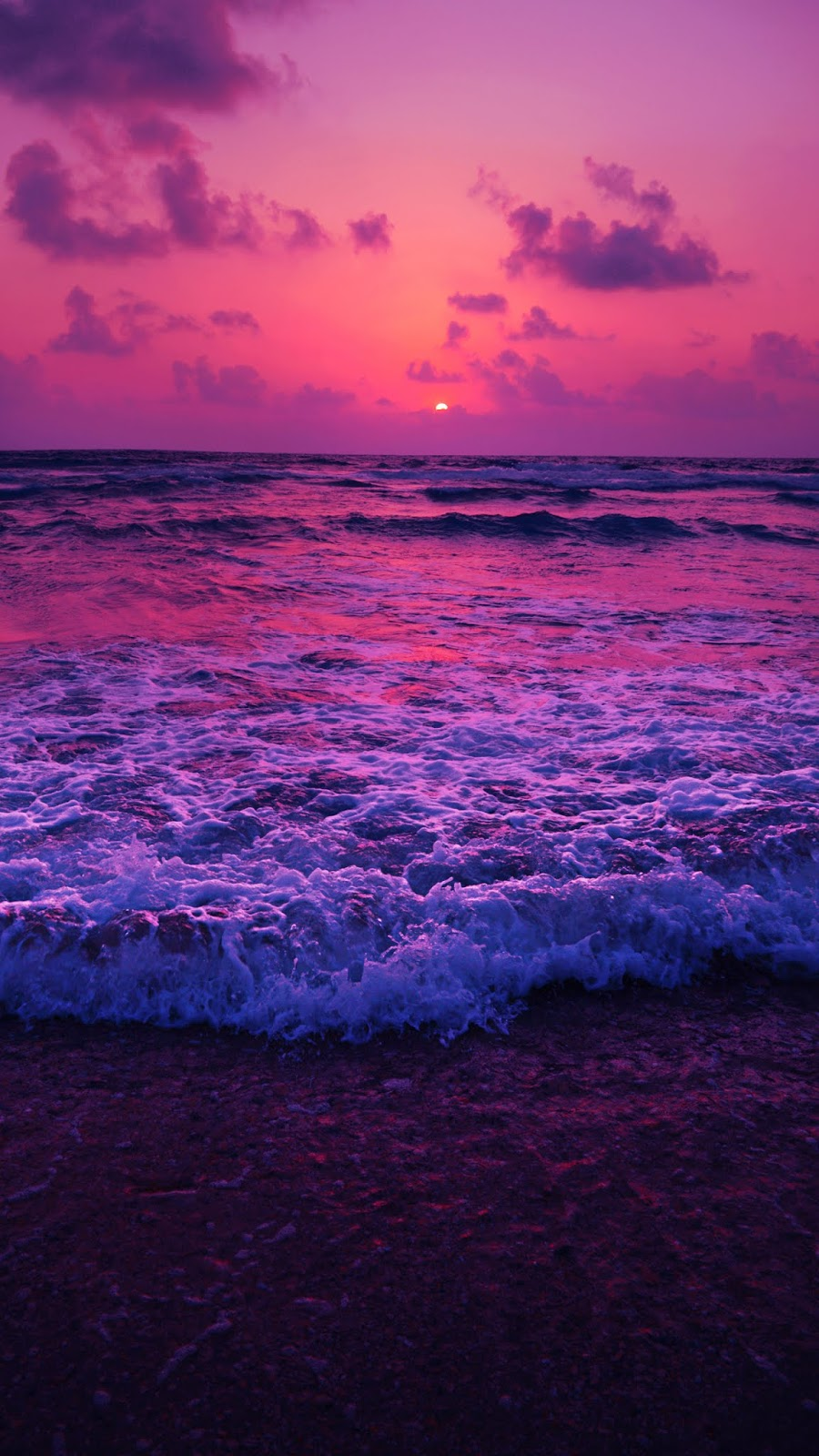 Beach in the twilight sunset