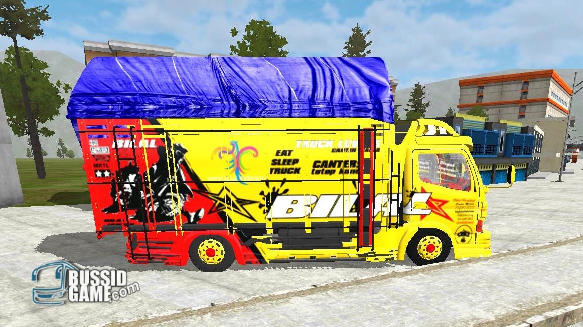 Mod Truck Canter TE Jabrix Terpal Segitiga Gudang Livery Skin Dan