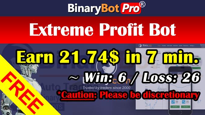 Extreme Profit Bot (16-Oct-2020) | Binary Bot | Free Download