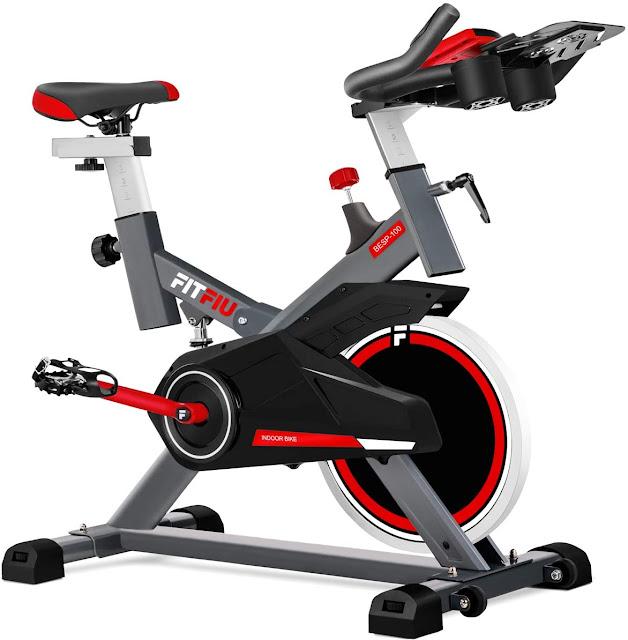 Fitness BESP-100 - Bicicleta indoor con disco de inercia de 16kg