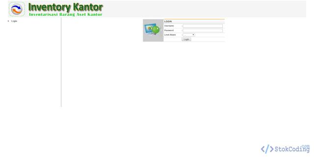 Aplikasi Inventaris Barang Berbasis Web (PHP)