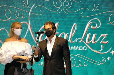 Alvaro Garnero e Ana Hickmann em Gramado - Crédito: Cleiton Thiele