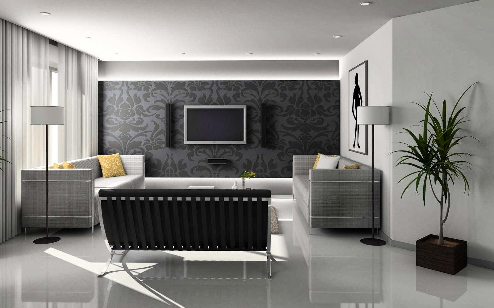 Warna Desain Interior R Rumah Lemari Modern Minimalis