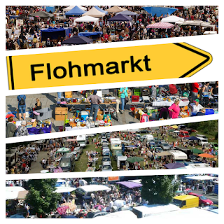 Flohmarkt. Блошиный рынок в Германии.