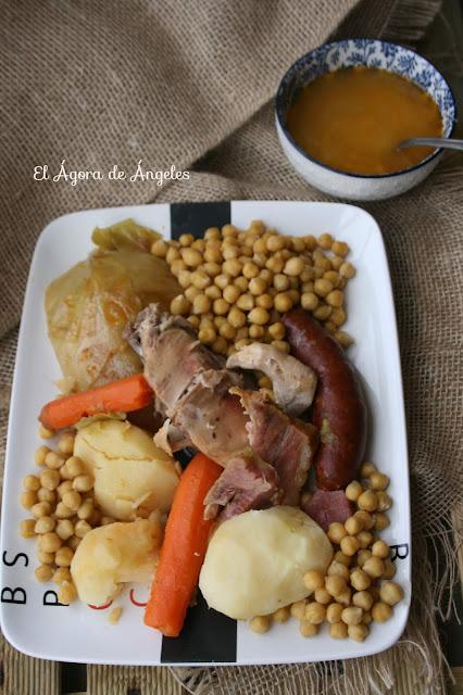 cocido de garbanzos fácil y con poca grasa
