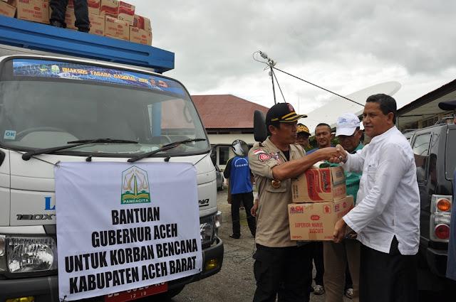 Bantuan Masa Panik Dari Provinsi Aceh Tiba di Lokasi Banjir