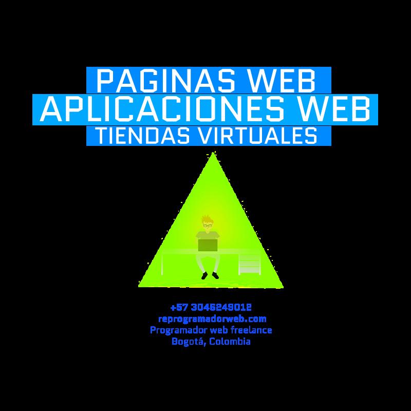 diseño de paginas web en Bogota, programador y diseñador web en Colombia