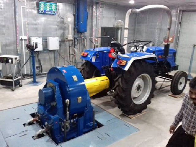 Central Farm Machinery  Institute Budni (MP) tests the first-ever electric Tractor