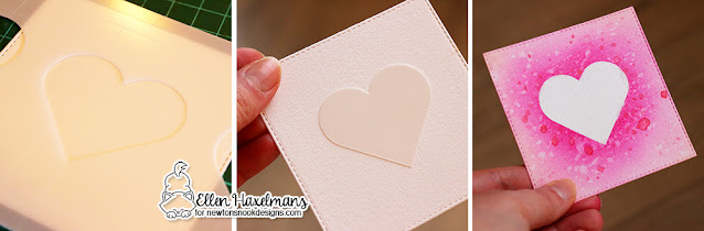 Stencil Tutorial by Ellen Haxelmans | Slimline Masking Hearts Stencil Set by Newton's Nook Designs