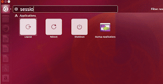Ubuntu16.04 LTS  Session option in dashboard