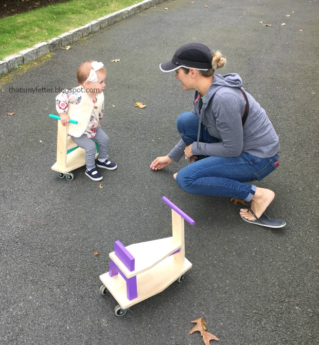 diy toddler size scooter ride on toy