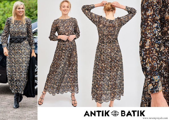Queen Maxima wore Antik Batik Khero Embroidered Openwork Long Dress
