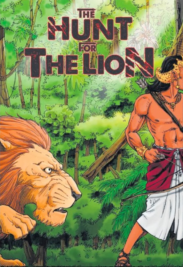 CLASSIC LEGEND: Praveen Kumar Radhakrishnan, also known as Radkris, produced a graphic novel based on Singapore's history. The Hunt For The Lion: The Two Kings borrows story elements from the tale of Sang Nila Utama.